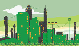 Groene Stedelijke Stad Royalty-vrije Stock Fotografie