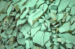 Groene steen Stock Foto