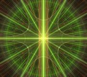 Groene ster, ornamentn, patroon stock illustratie
