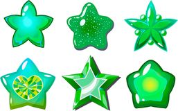 Groene sterren Stock Fotografie