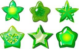 Groene sterren Stock Foto's
