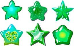 Groene sterren Stock Afbeeldingen