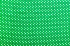 Groene stip katoenen achtergrond direct hierboven stock foto's
