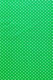 Groene stip katoenen druk hoogste mening royalty-vrije stock foto