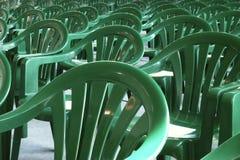 Groene stoelen Stock Foto