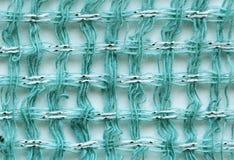 Groene stof met de textuur van de metaalvezel Stock Fotografie