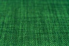 Groene stoffentextuur Abstracte achtergrond, leeg malplaatje Royalty-vrije Stock Foto's