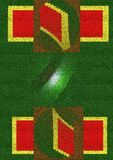 Groene stralen stock afbeelding