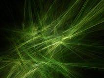 Groene stralen royalty-vrije illustratie