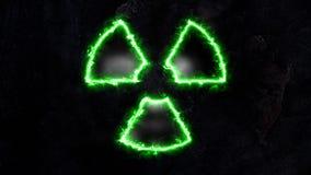 Groene straling Plasmastraling Plasmagloed op straling 44 stock video