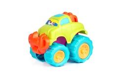 Groene stuk speelgoed auto stock foto