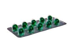 Groene tabletten. Royalty-vrije Stock Foto's