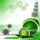 Groene technologieachtergrond stock illustratie