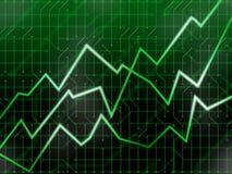Groene technologiemarkten Stock Afbeelding