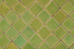Groene tegel voor patroon en achtergrond Stock Foto