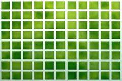 Groene tegels Royalty-vrije Stock Foto