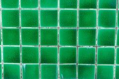 Groene Tegeltextuur Stock Foto
