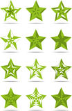 Groene tekenssterren Royalty-vrije Stock Fotografie