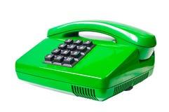 Groene telefoon Royalty-vrije Stock Foto's