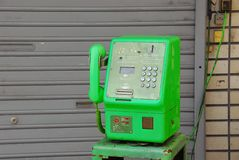 Groene telefoon Stock Foto's