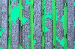 Groene textuur van metaal, plaat Stock Foto's