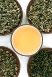 Groene theeën Stock Fotografie