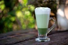 Groene thee latte royalty-vrije stock fotografie