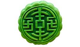 Groene thee maan-cake royalty-vrije stock afbeeldingen