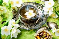 Groene thee met jasmijn Stock Afbeeldingen