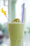 Groene thee smoothie Royalty-vrije Stock Foto