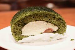 Groene thee swissroll Stock Foto
