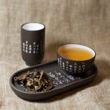 Groene thee in waren Stock Foto's