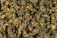 Groene theebladenmacro als achtergrond Stock Afbeeldingen