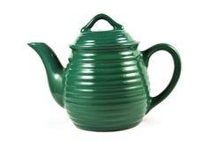 Groene theepot Stock Afbeelding