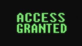 Groene toegang verleende tekst op de digitale zwarte lcd van de kwaliteitstechology van de het schermillustratie nieuwe kleurrijk royalty-vrije illustratie
