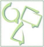 Groene toespraakbel met een kader - vector Stock Afbeelding