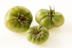 Groene tomaat op witte achtergrond Royalty-vrije Stock Afbeeldingen