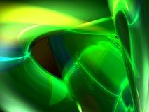 Groene transparante 3d samenvatting stock illustratie