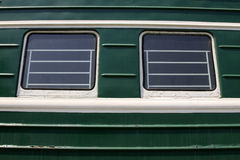 Groene treinauto's Royalty-vrije Stock Foto's