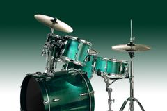 Groene trommels stock illustratie