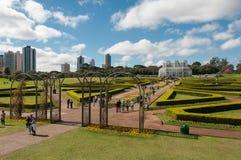 Groene Tuinen van de Botanische Tuin van Curitiba, Brazilië Royalty-vrije Stock Fotografie