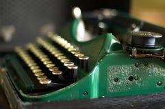 Groene typemachine Stock Foto