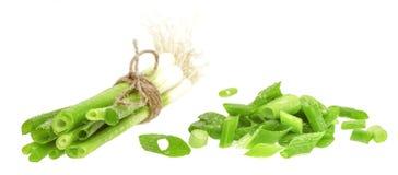 Groene ui bieslook stock afbeeldingen