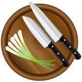 Groene uien vector illustratie