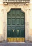 Groene uitstekende deur Royalty-vrije Stock Afbeeldingen