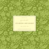 Groene uitstekende huwelijkskaart Stock Foto's