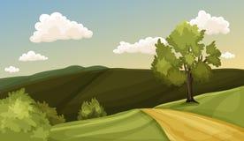Groene vallei stock illustratie