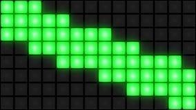 Groene van de de dansvloer van de Disconachtclub van het de muur gloeiende lichte net vj lijn als achtergrond stock videobeelden