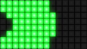 Groene van de de dansvloer van de Disconachtclub van het de muur gloeiende lichte net vj lijn als achtergrond stock footage