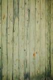 Groene van Schil Houten Planken Textuur Als achtergrond Stock Foto